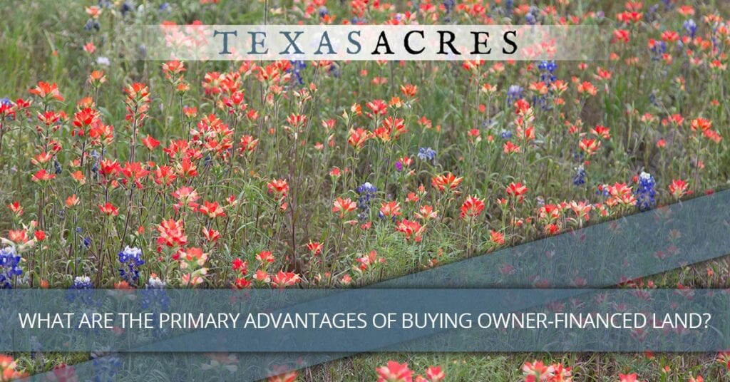 Call to action about buying land in East Texas.